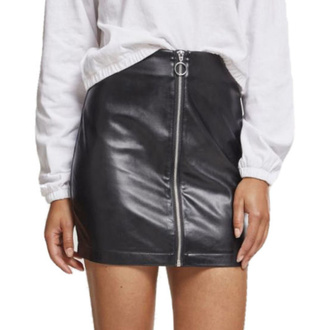 Women's skirt URBAN CLASSICS - Faux Leather - black, URBAN CLASSICS