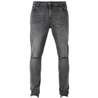 Men's pants URBAN CLASSICS - Slim Fit Jeans - black washed, URBAN CLASSICS