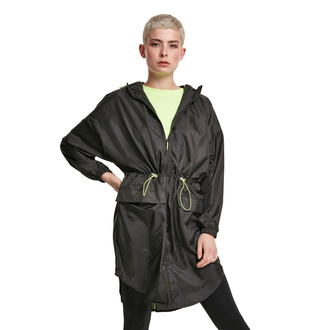 women's jacket URBAN CLASSICS - Transparent Light Parka - black / electriclime, URBAN CLASSICS