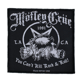 Patch Mötley Crüe - You Can't Kill Rock N Roll - RAZAMATAZ, RAZAMATAZ, Mötley Crüe
