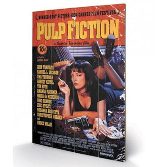 Wooden painting Pulp Fiction - (Cover) - PYRAMID POSTERS, PYRAMID POSTERS, Pulp Fiction