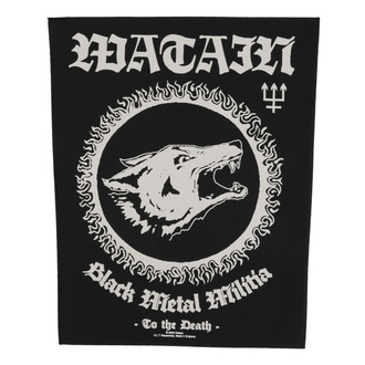 Large patch Watain - Black Metal Militia - RAZAMATAZ, RAZAMATAZ, Watain