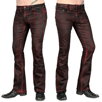 Men's trousers (jeans) WORNSTAR - Hellraiser Crimson Coated, WORNSTAR