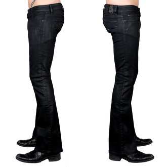 Men's pants (jeans) WORNSTAR - Hellraiser Coated - Charcoal, WORNSTAR