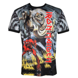 Men's t-shirt (technical) IRON MAIDEN - NUMBER OF THE BEAST - BLACK - AMPLIFIED, AMPLIFIED, Iron Maiden