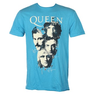 Men's t-shirt QUEEN - AUTOGRAPHS - Teal PANTHER - AMPLIFIED, AMPLIFIED, Queen