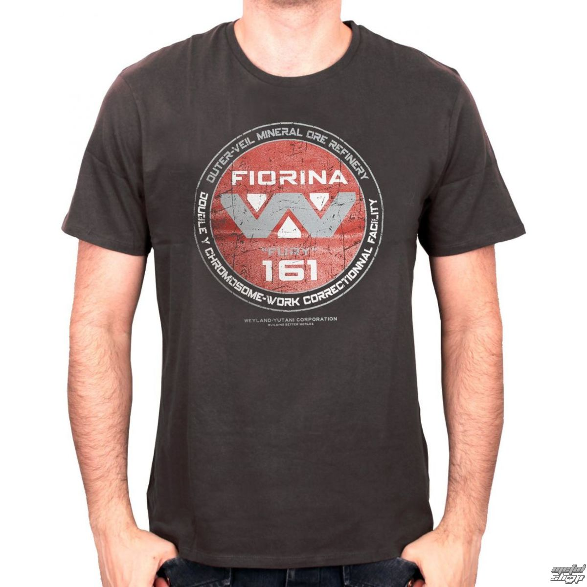 520dd3924050 tričko pánské ALIEN - FIORINA 161 - GREY - LEGEND - MEALINDTS022 -  metal-shop.eu